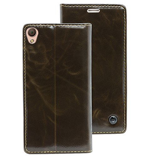 Sony Xperia Z3 braun Mobilefox Luxus Tasche Geldbeutel Schutz Hülle Case Etui Bumper Schale Cover