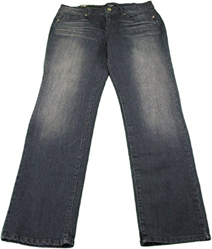 - Nine West Jeans Ladies Rosemary Straight Leg Bling Jeans Royale 14