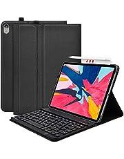 """COO Funda con Teclado iPad Pro 11, Funda iPad 11"""" con Ranura para Lápiz y Teclado Español Bluetooth Desmontable para iPad Pro 11 Inch 2018-Cubierta Magnética Delgada-Múltiples Ángulos de Visión"""