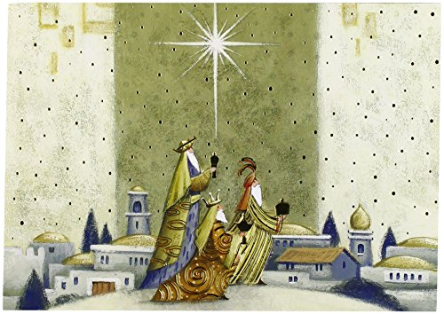 Masterpiece Studios Holiday Collection Boxed Religious Cards, Offering Gifts, 16 Cards/16 Foil-Lined Envelopes