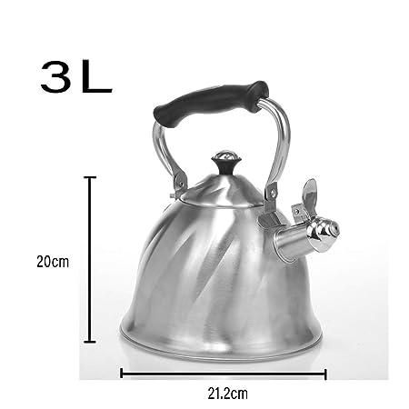 LINGZHIGAN Hervidor 304 Acero Inoxidable 1810 Cocina de ...