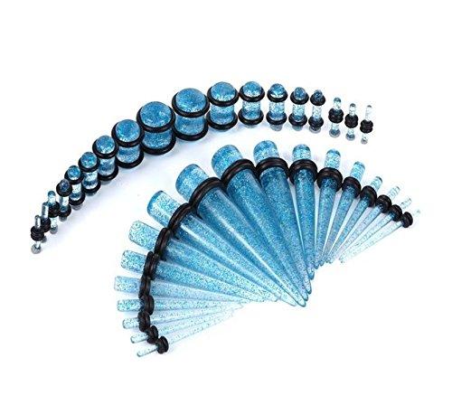aqua glitter plugs - 1