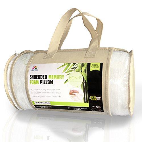 Premium Shredded Memory Foam Pillow Queen Standard Size