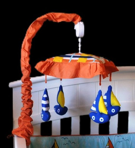 DK Leigh Musical Mobile, Sailboat (Sailboat Crib Mobile compare prices)