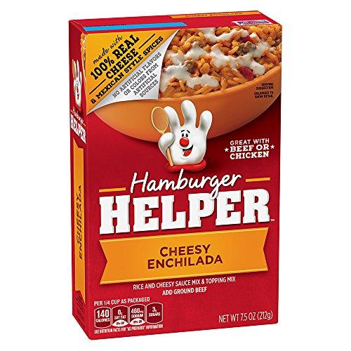 Betty Crocker Chicken Pasta - Hamburger Helper Cheesy Enchilada Dinner Kit, 7.5-Ounce Boxes (Pack of 12)