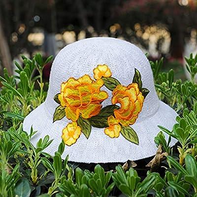Sun Hat Dome Embroidery Fisherman Hat Foldable Sun Visor