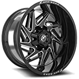 "XF OFFROAD XF-203 Black Machined Wheels (17x9"" 5x114.3 5x127 -12 78.1)"