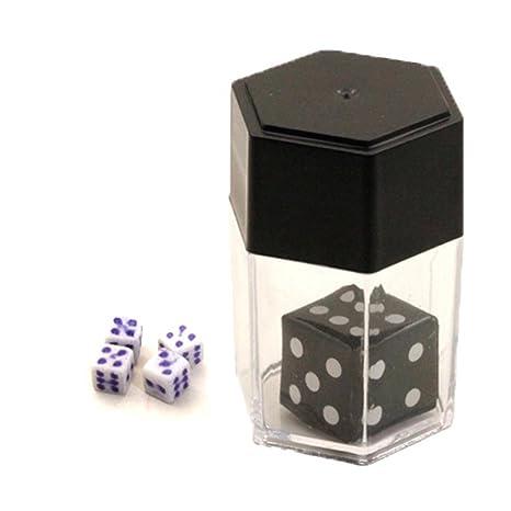 Amazon.com: Crazy truco de magia cubeta, sacow Magic dados ...