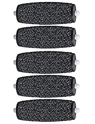5 Extra Coarse Replacement Roller Refill Heads for Pedi Perfect Electronic Foot File with Diamond (5pack-black)
