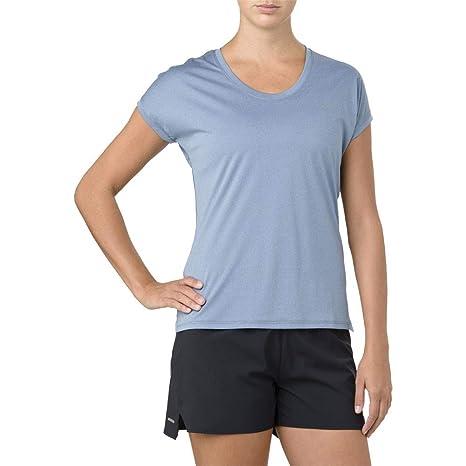 abec11fbdae0 ASICS Women Capsleeve Top Abbigliamento da Running T-Shirt Blue - Silver L