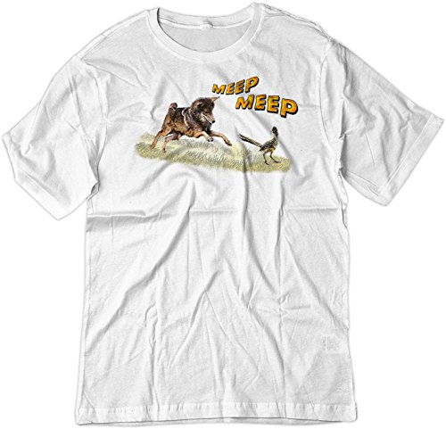 Price comparison product image BSW Youth Coyote and Roadrunner Looney Tunes Real Shirt XS White