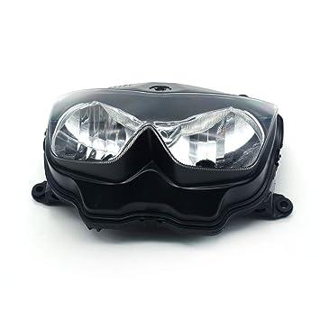 Motorrad Schwarz Scheinwerfer Licht Kopf Lampe Kawasaki Ninja 250r Z1000 Z750