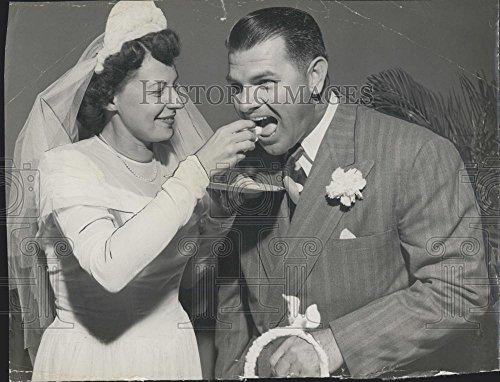(Vintage Photos 1949 Press Photo Max Lanier Former St. Louis Pitcher Weds Betty Cunningham)