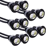 Etopars 10Pcs 9W LED DRL Eagle Eye Light Car Motor Fog Daytime Reverse Signal DRL Backup White LED Bulb