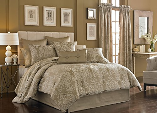 Five Queens Court Maureen Tan 4-Piece Comforter Set, King Size