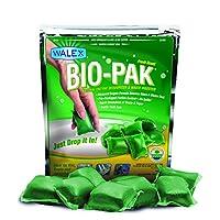 Walex BOI-11530 Bio-Pak Desodorante de tanque de retención natural y detectores de residuos Digest Drop-Ins, Alpine Fresh Scent (paquete de 10)