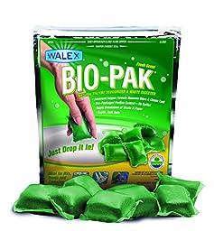 Walex BIO-11530 Bio-Pak Natural Holding Tank Deodorizer and Waste Digester, (Pack of 10)