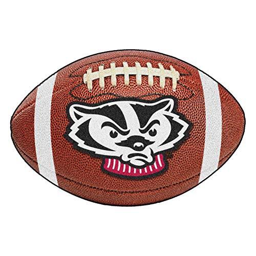 FANMATS NCAA University of Wisconsin Badgers Nylon Face Football Rug