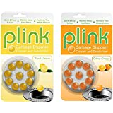 Plink Garbage Disposal Cleaner and Deodorizer, Original Fresh Lemon and Orange Scent, Value 2-Pack for 20 Cleanings