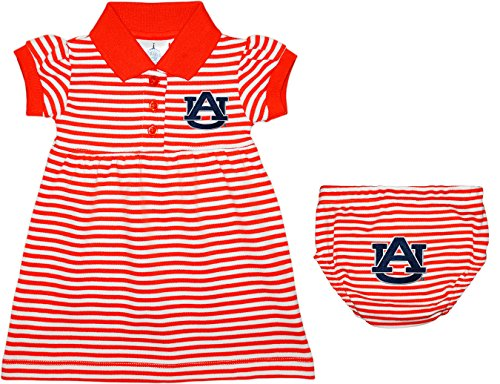 Auburn University Tigers Striped Game Day Dress with Bloomer