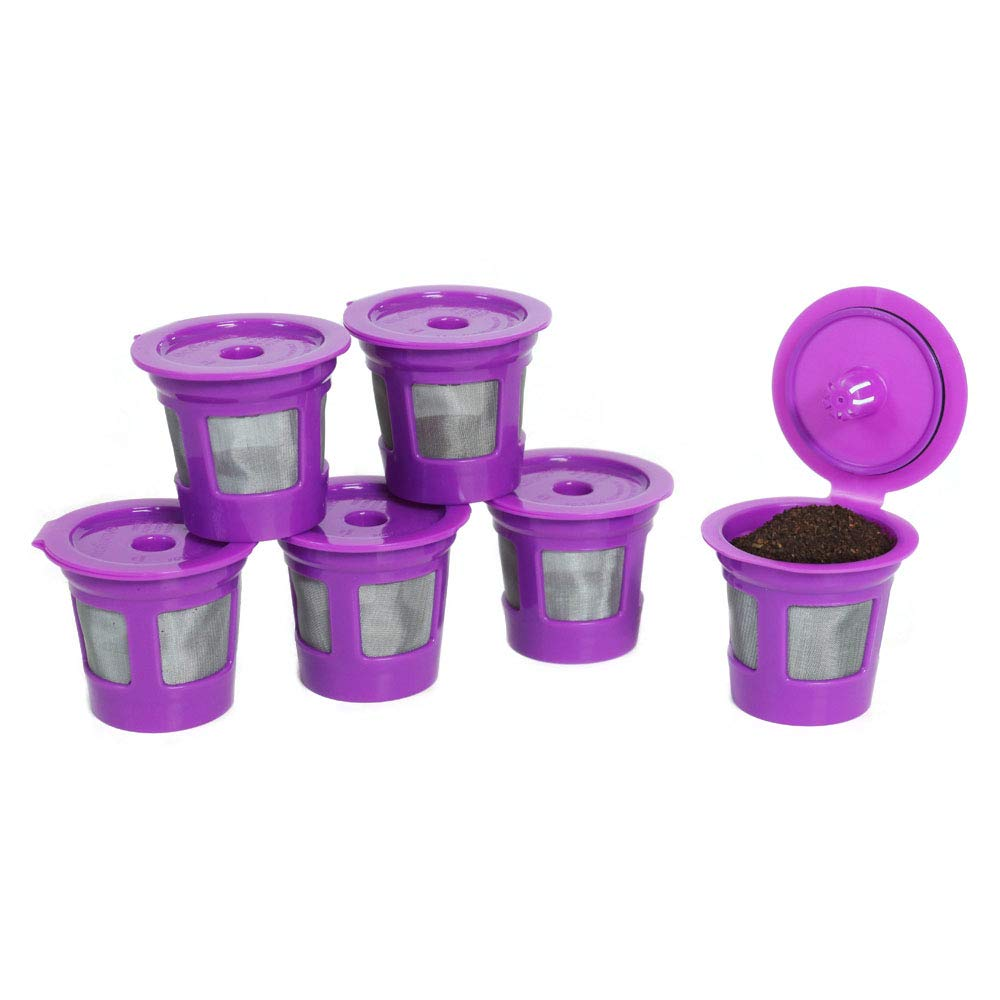 Perfect Pod Value Reusable K-Cup Coffee Pod Filters | Refillable Pod Capsules with Built-In, Integrated Mesh Strainer, 6-Pack