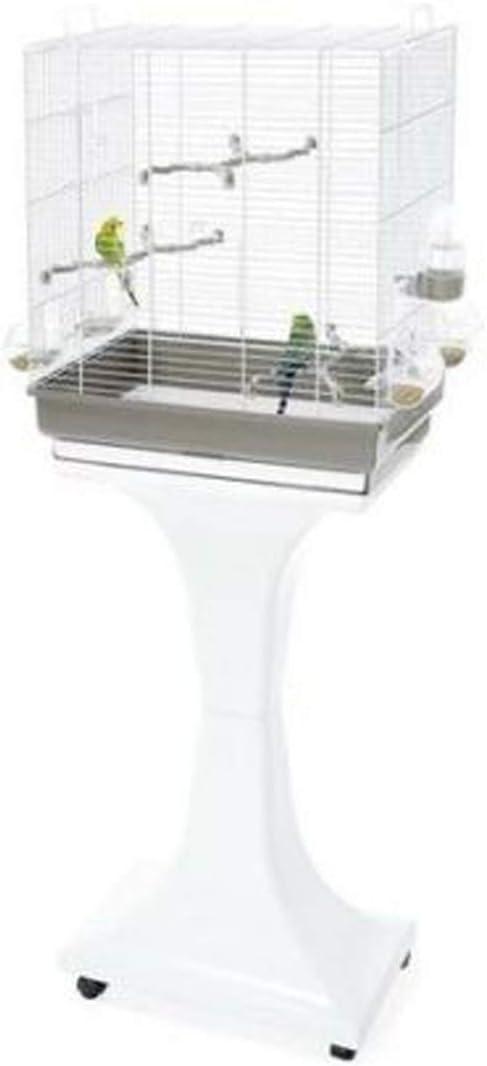 IMAC Jaula Pájaros - CAMILLA, 50 x 30 x 57/129 cm, Gris, Pájaros