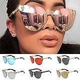 Remiel Store Classic Oversized Metal Frame Full Mirrored Lens Aviator Sunglasses (A, 6.5)