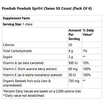 Baobab Superfruit Chew 30 Chews Pack of 6