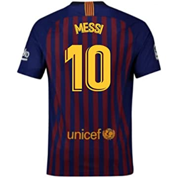 13ca844d65f 2018-2019 Barcelona Home Nike Football Soccer T-Shirt Jersey (Lionel Messi  10