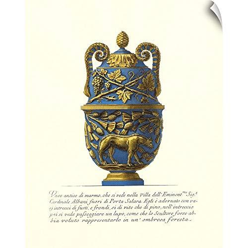 CANVAS ON DEMAND Giovanni Baptista Piranesi Wall Peel Wall Art Print Entitled Blue Urn II 16
