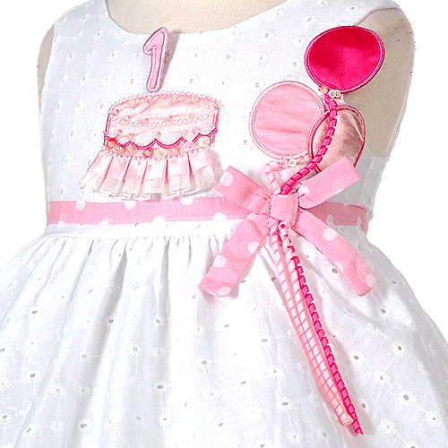 Sophias Style Baby Girls White Pink Balloon Boutique 1st