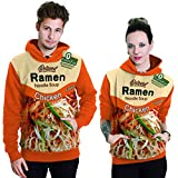 THENICE Neutral Long Sleeve Hoodies Sweatshirts lover Couples suits (L, Ramen orange)