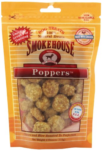 (Smokehouse Pet Products 25091 Chick Popper Treat For Dogs, 4-Ounce)