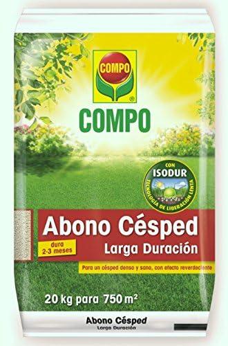 Compo Abono de césped Larga duración de hasta 2-3 Meses, para 800 m², 20 kg, 1311208011: Amazon.es: Jardín