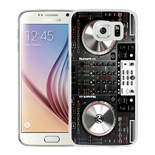 Numark Ns6 Disc Jockey Dj Turntable White Shell Case for Samsung Galaxy S6,Luxury Cover
