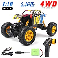 GobiDex 33MPH 2.4GHz 4WD Off Road Waterproof Monster RC Truck, 1/18 Scale
