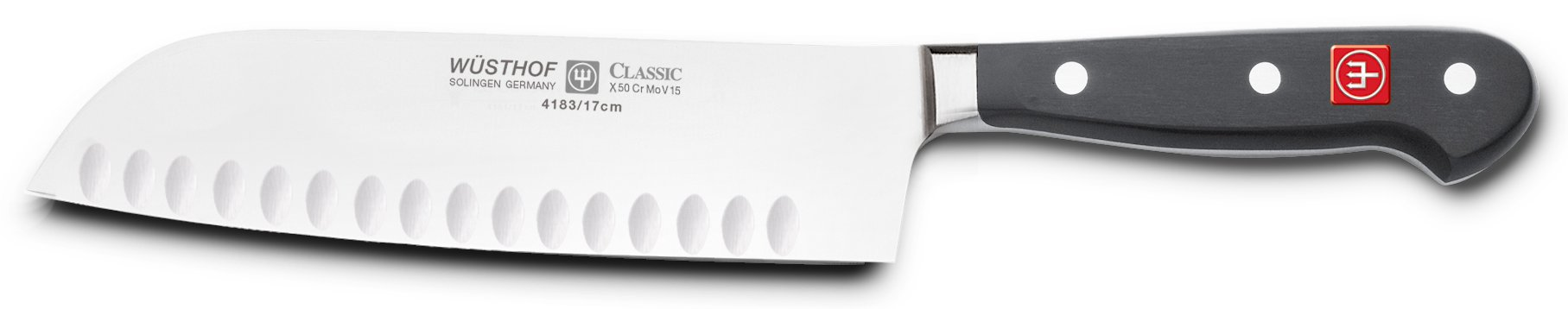 Wusthof Classic 7-inch Hollow Edge Santoku Knife