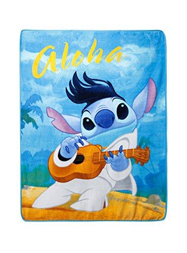 Disney Lilo & Stitch Aloha Elvis Beach Super Plush Throw