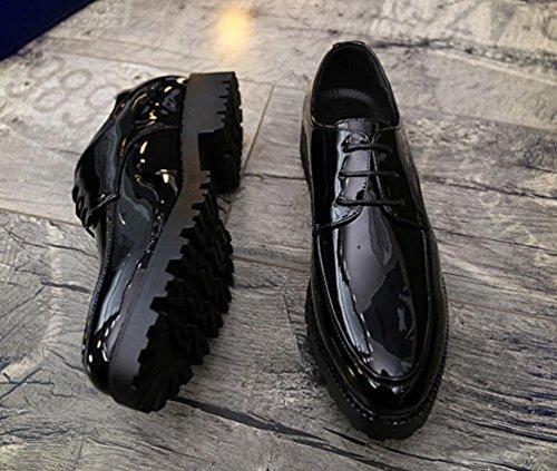 Mlsopx De Vestir Hombre Cuero Transpirables Para 40 2228black Negocios Zapatos SwqSfgT