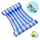 Comtervi Water Hammock Water air Mattress Inflatable Swimming Pool air Mattress with Head and Foot Sections for Swimming Pool Mesh Lounge