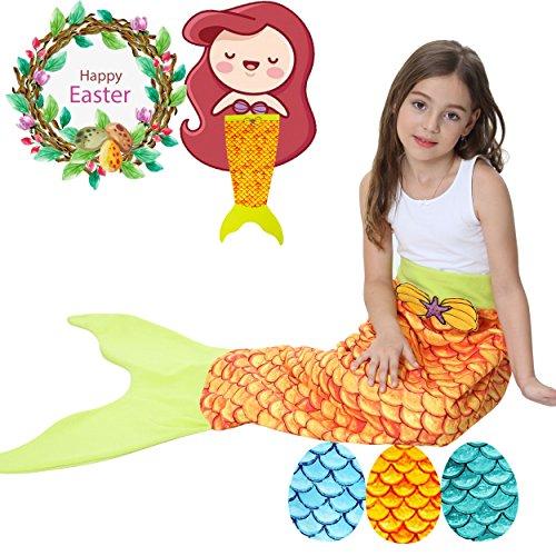 Mermaid Tail Blanket Kids Girls Valentine's Day Dress