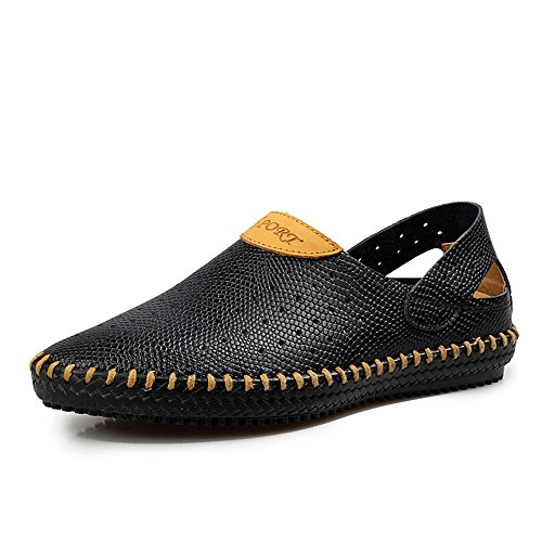 de Antideslizantes para Suaves Bajos Planos Zapatos Transpirables Hombres Zapatos Negro Verano Ocasionales vH5axq