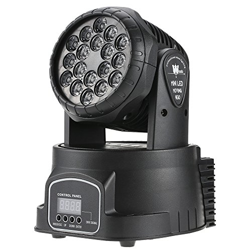 Docooler Mini Moving Head Light 18 x 3W RGB 3 in 1 Color ...