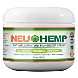 Organic Pain Relieving with 100mg Full Spectrum Hemp Extract Cream for Sunburn Skin Nerve Damage Relief Support Knee Joint Lower Back Neck Muscle Oil Turmeric Arnica MSM BOSWELLIA 2oz