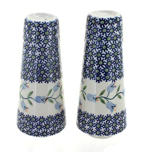 (Blue Rose Polish Pottery Tulip Salt & Pepper)