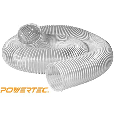 POWERTEC 70143 4-Inch x 20-Feet Flexible PVC Dust Collection Hose, Clear Color from Southern Technology LLC