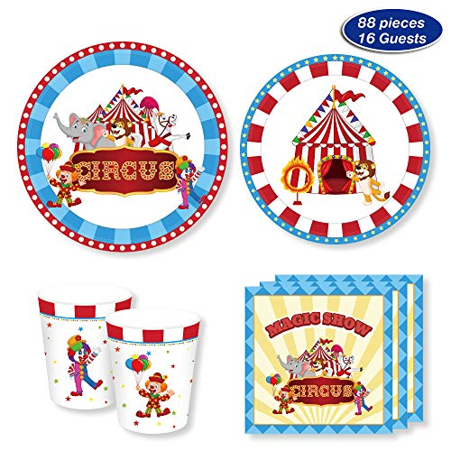 Carnival Circus Party Supplies - Serves 16 -
