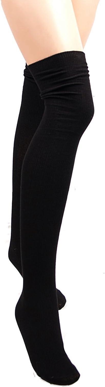 Markenlos WARME/&KUSCHELIGE Overknee Str/ümpfe 180 DEN BAUMWOLLE /Überknie Overknees S//XL