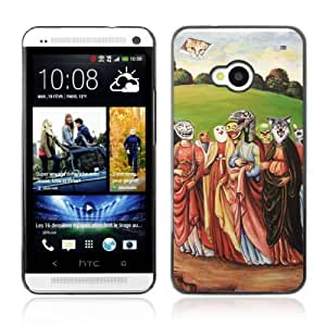 Designer Depo Hard Protection Case for HTC One M7 / LOL Meme Raptor, Cat, ORLY