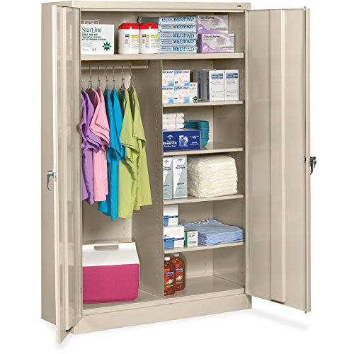 Tennsco J2478SUCPY Jumbo Combination Steel Storage Cabinet, 48w x 24d x 78h, Putty